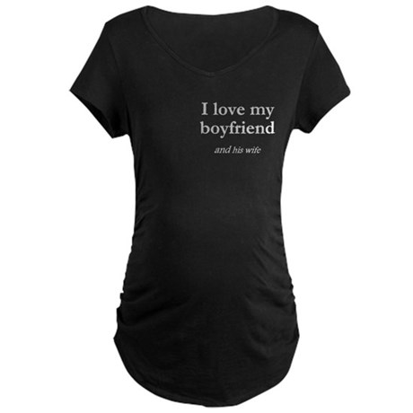 Boyfriend/his wife Maternity Dark T-Shirt