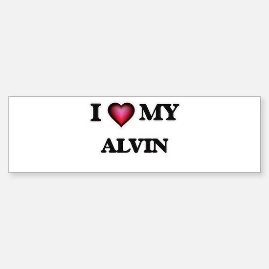 I love Alvin Bumper Bumper Bumper Sticker