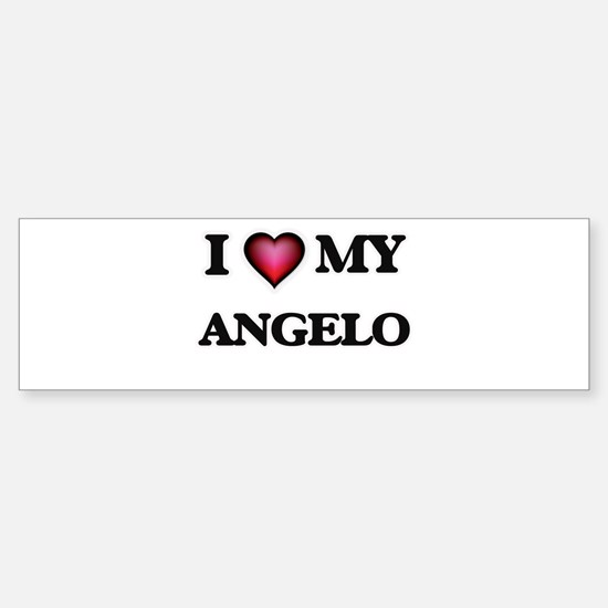 I love Angelo Bumper Bumper Bumper Sticker