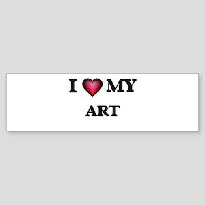 I love Art Bumper Sticker