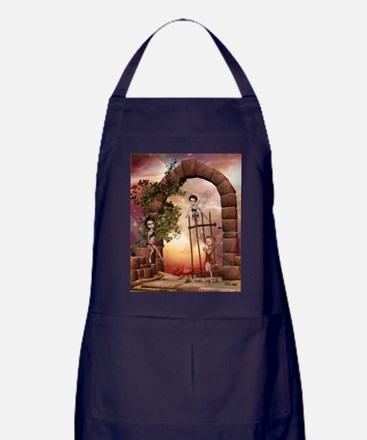 Cute playing fairys in the sunset Apron (dark)