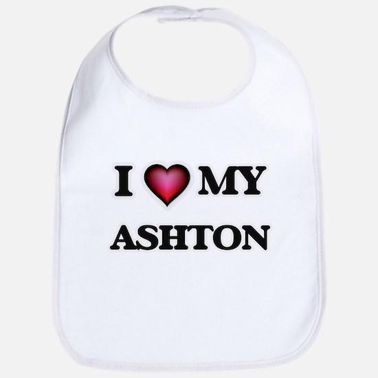 I love Ashton Baby Bib
