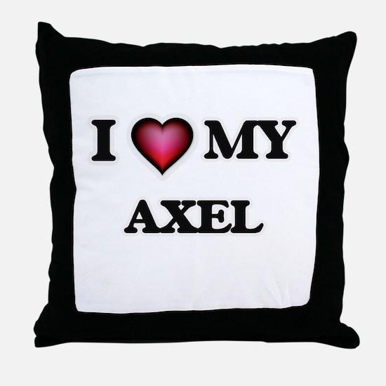 I love Axel Throw Pillow
