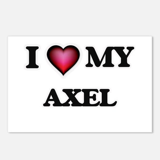 I love Axel Postcards (Package of 8)