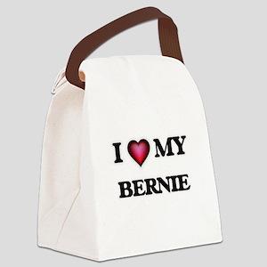 I love Bernie Canvas Lunch Bag