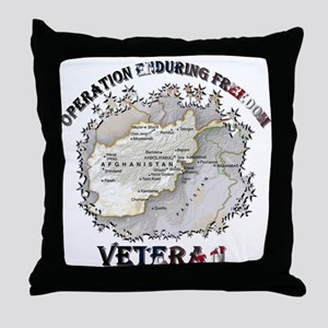 Operation Enduring Freedom Veteran Throw Pillow