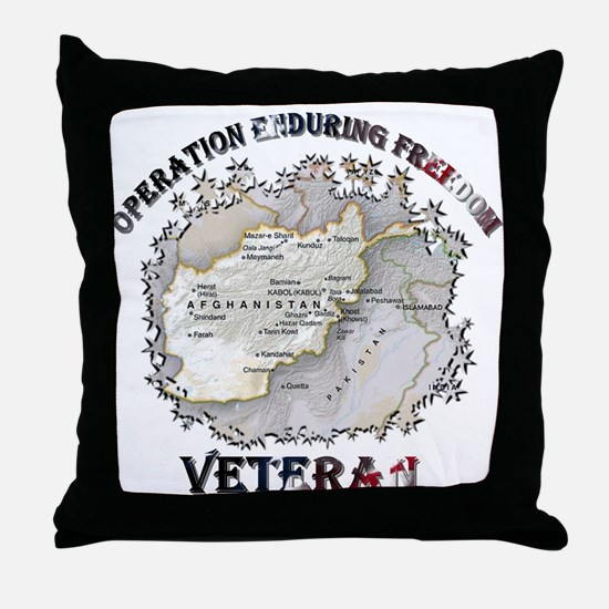 Operation Enduring Freedom Veteran Throw Pillow
