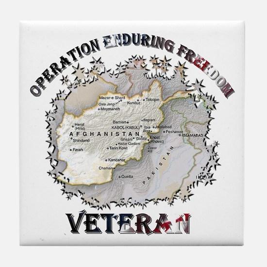 Operation Enduring Freedom Veteran Tile Coaster