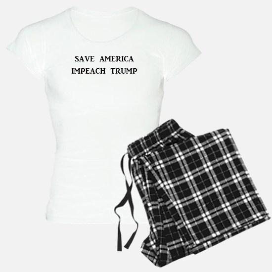 SAVE AMERICA, IMPEACH TRUMP Pajamas