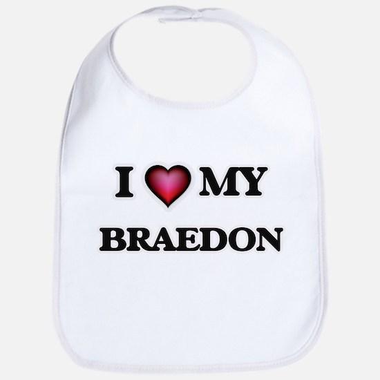 I love Braedon Baby Bib