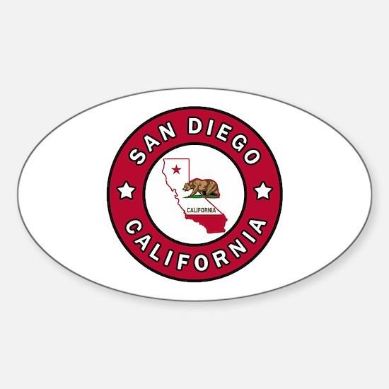 Cute Chula vista california Sticker (Oval)
