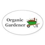 Organic Gardener Sticker (Oval 10 pk)