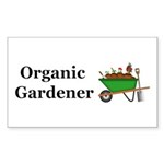 Organic Gardener Sticker (Rectangle 50 pk)