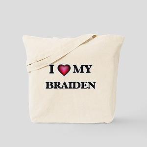 I love Braiden Tote Bag