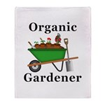 Organic Gardener Throw Blanket