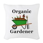 Organic Gardener Woven Throw Pillow