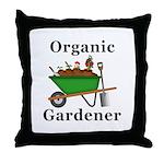 Organic Gardener Throw Pillow