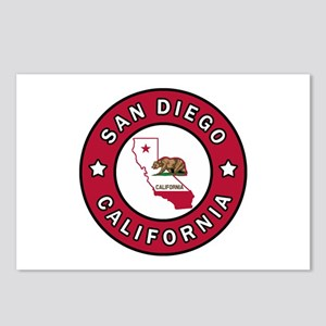 San Diego California Postcards (Package of 8)