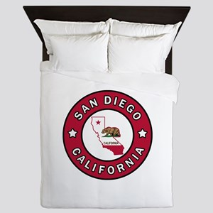 San Diego California Queen Duvet
