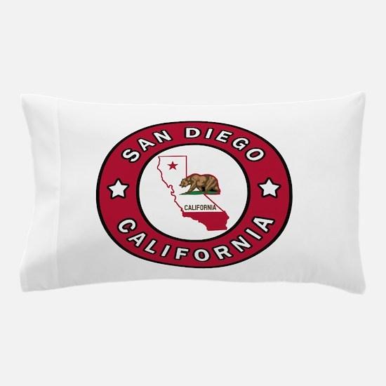 San Diego California Pillow Case