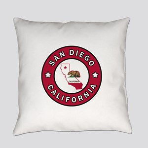San Diego California Everyday Pillow