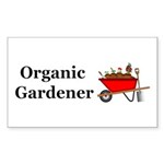 Organic Gardener Sticker (Rectangle 10 pk)