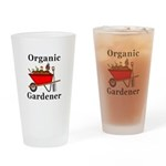 Organic Gardener Drinking Glass