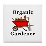 Organic Gardener Tile Coaster