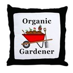 Organic Gardener Throw Pillow