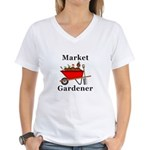 Market Gardener Women's V-Neck T-Shirt