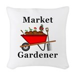 Market Gardener Woven Throw Pillow