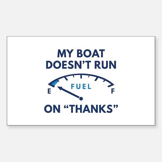 My Boat Sticker (Rectangle)
