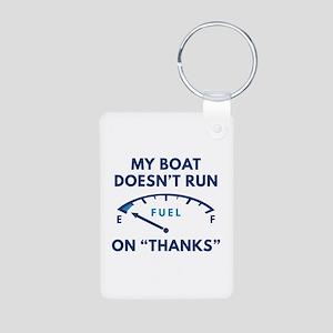 My Boat Aluminum Photo Keychain
