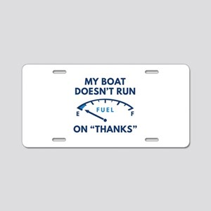 My Boat Aluminum License Plate
