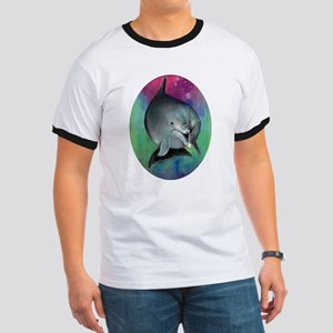 Dolphin & Mermaid Adult Ringer T