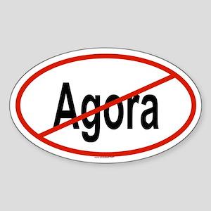 AGORA Oval Sticker