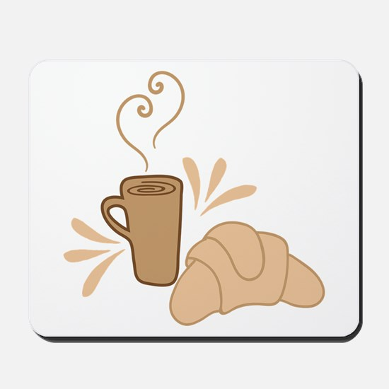 Coffee and croissant Mousepad
