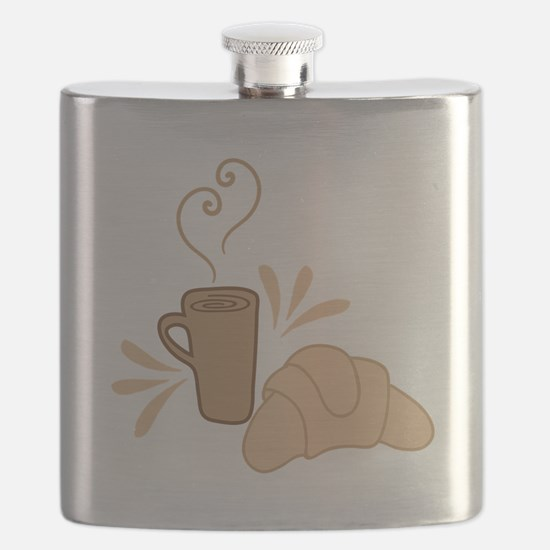 Coffee and croissant Flask