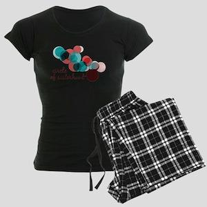 Circle of Sisterhood Logo Women's Dark Pajamas