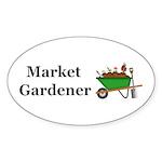 Market Gardener Sticker (Oval 50 pk)