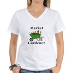 Market Gardener Women's V-Neck T-Shirt