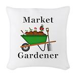 Market Gardener Woven Throw Pillow