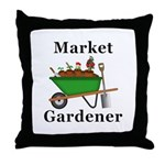 Market Gardener Throw Pillow