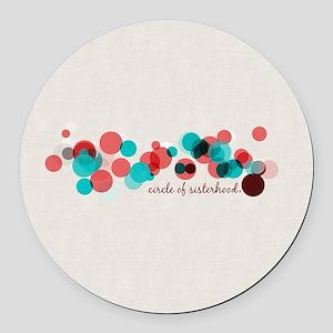 Circle of Sisterhood Logo Pattern Round Car Magnet