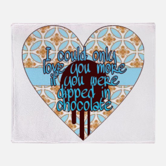 Unique Love you more Throw Blanket