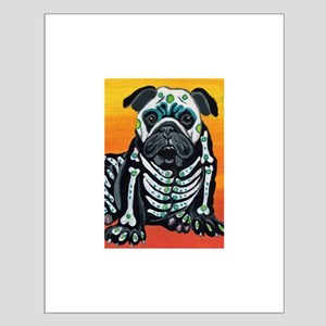 Day of the Dead English Bulldog Small Poster