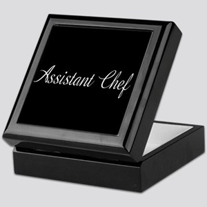 Culinary: Assistant Chef (Cursive) Keepsake Box