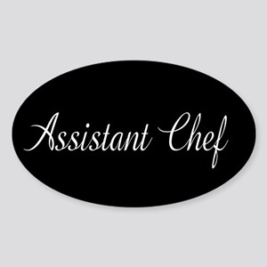 Culinary: Assistant Chef (Cursive) Sticker (Oval)