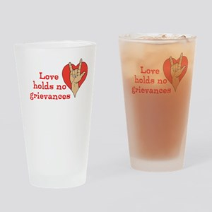 Love Rules Drinking Glass