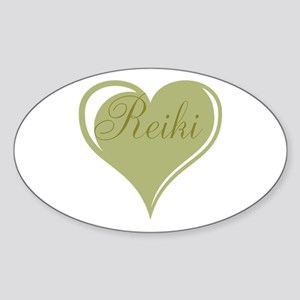Reiki Green Heart Sticker